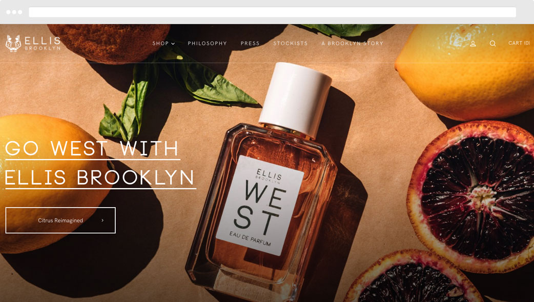 Ellis Brooklyn Shopify Ecommerce Website